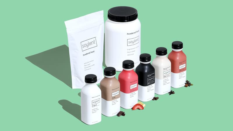 Full lineup of Soylent products.