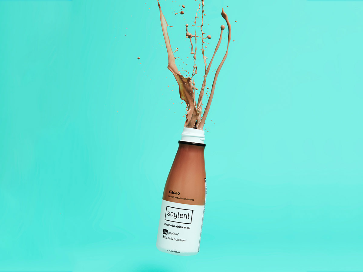 Bottle of Soylent Drink Cacao.